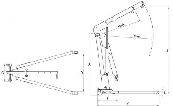 2T Folding Engine Crane